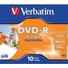 43521 Диски DVD-R Verbatim 16-x, 4.7 Gb, Printable (Jewel Case, 10шт.)