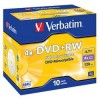 Verbatim Диск DVD+RW  4.7Gb 4x Jewel Case (10шт) 43246