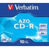 43327 Диски CD-R Verbatim CRYSTAL AZO, 700Mb 80 min 52-x (Jewel Case, 10шт.)